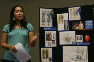 Emika Abe, Berkeley Rep school administrator, promotes the school's most recent play