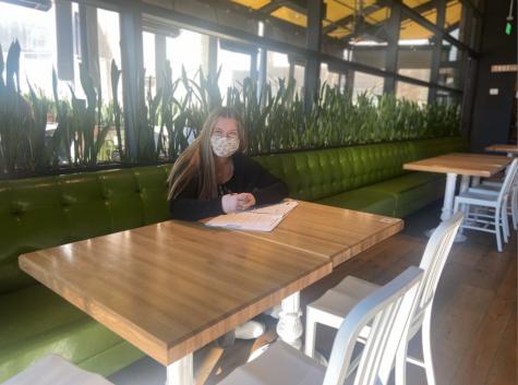Sophomore Maya Gottfried begins her work day at TrueFood Kitchen in Walnut Creek.
