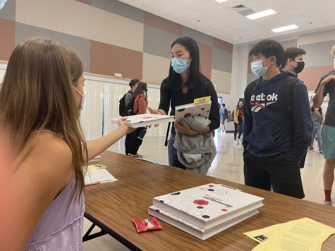 Yearbook Distribution in the CPAC on August 18, 2021.