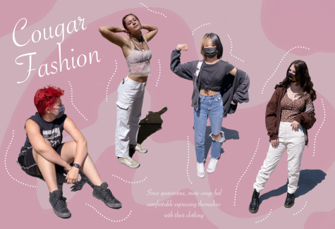 Senior Aeryn Armstrong-Azar, junior Kate Crosby, freshman Mio Eng, and senior Zara Quam all express themselves through their fashion.