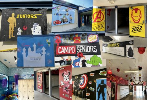 Array of thematically designed halls around campus.