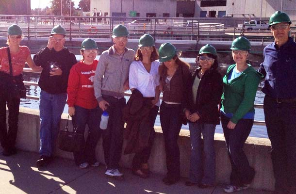 Teachers Visit Water Waste Facility