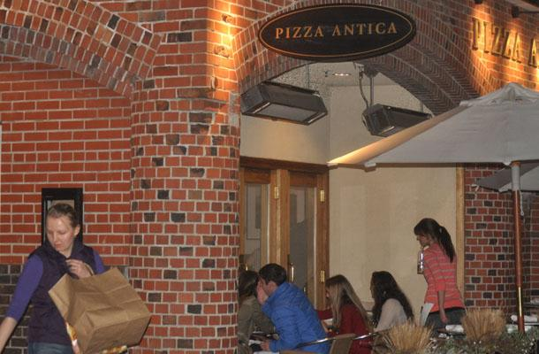 Students could order take out or sit down for the Junior class fundraiser at Pizza Antica.