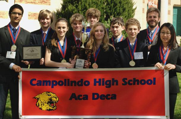 The Academic Decathlon team won the Medium School title at the State Competition on March 17 and will be advancing to the US Online National Competition.