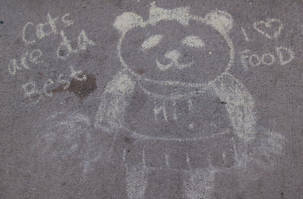 Spring Spirit Starts with Chalk Art