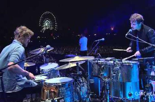 Foster the People performs their new single Best Friend from the album Supermodel  at Coachella Music Festival.