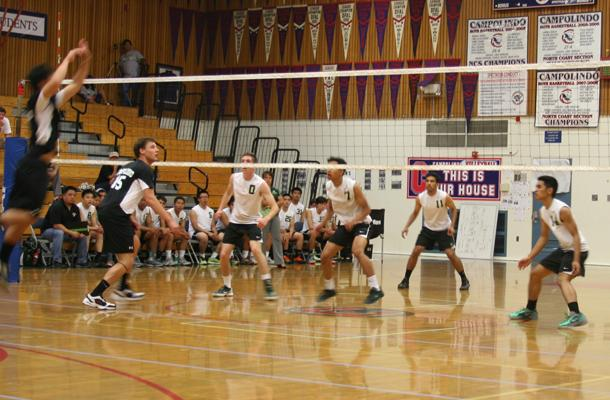 Boys' volleyball earned success against SPSV in the first round of NorCals in only 3 sets.