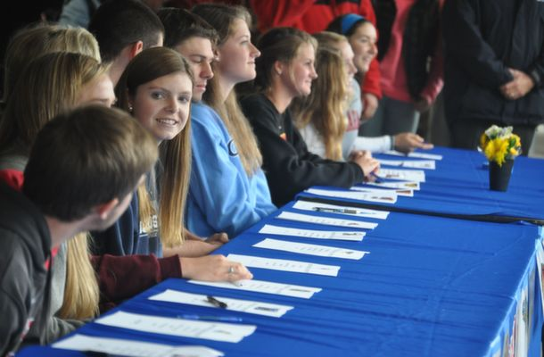 Athletes Sign NCAA Intent Letters