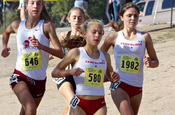 Toni Finnane, shown here at the CIF championships has continued to impress in her rookie season.