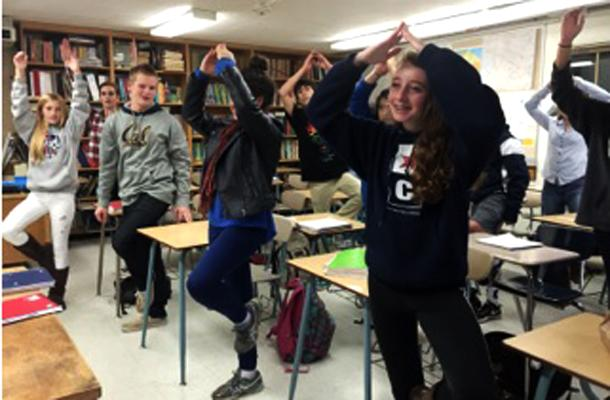 Yoga Helps Focus Teaching, Learning
