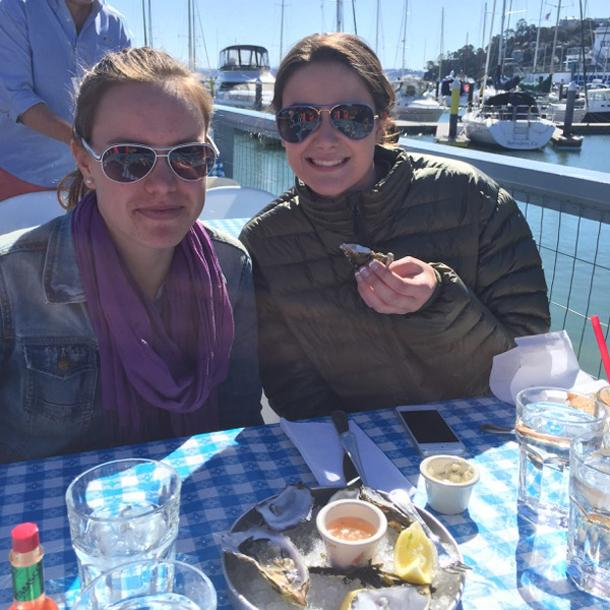 French Visitors Enjoy California Dreaming