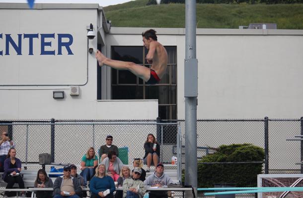 Klock Tops Leader Board at Diving Finals
