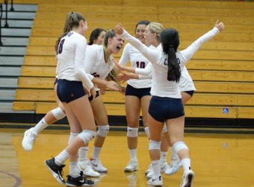 Girl's Volleyball Beats Familiar Foe