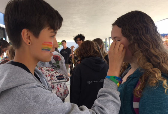 SAGA Sponsors Face Painting