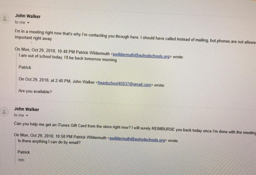Email Hackers Impersonate Principal