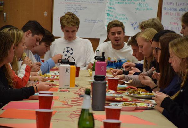 Leadership Enjoys Delayed Classroom Feast