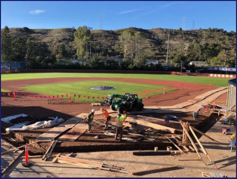 Company Donates Labor for Baseball Upgrades