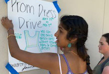 Club Hosts Dress Drive for Children's Camp