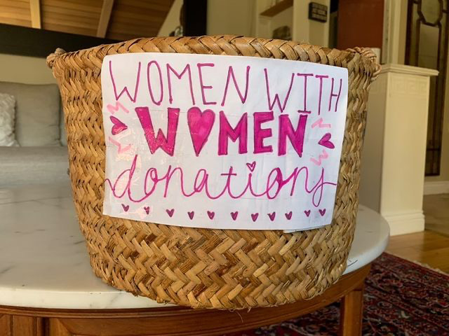 The Women With Women Club collected donations such as sanitary products  for homeless women.