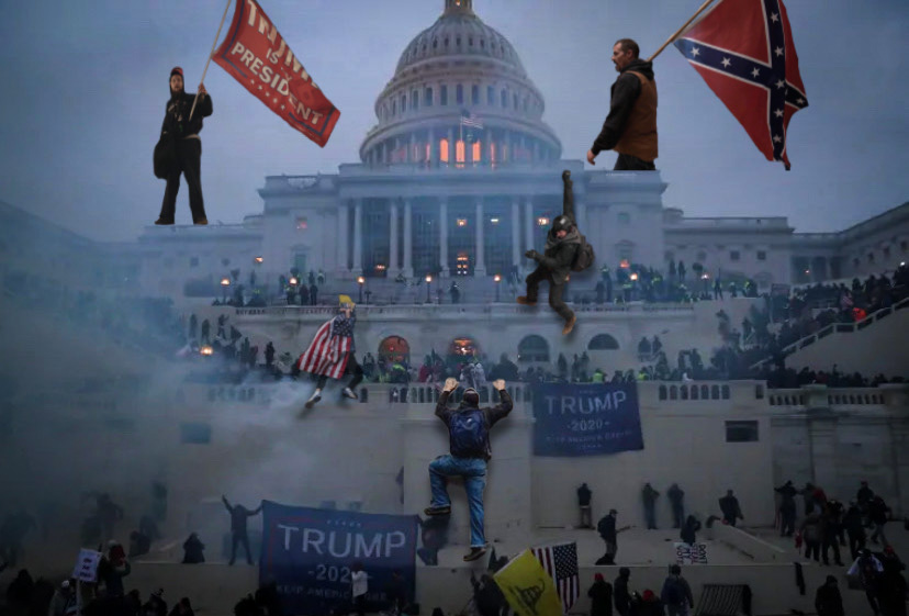 Attack on D.C. (collage using photos courtesy of the New York Times)