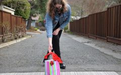 Sophomore Lara Heber leaves doorstep goody bags for her friends for Valentine's Day.
