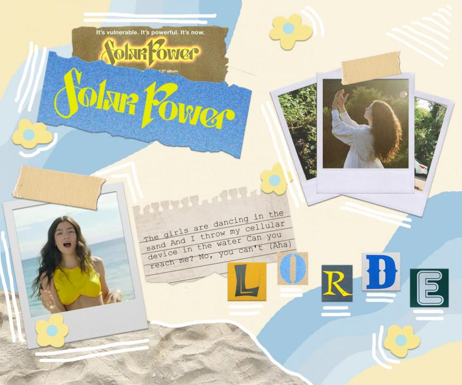 Students enjoy music from Lordes new album Solar Power.