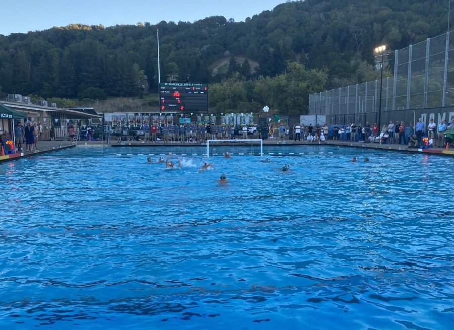 Cougar+spirit+supports+the+boys+varsity+waterpolo+team+as+they+face+off+against+the+Miramonte+matadors+on+September+22.
